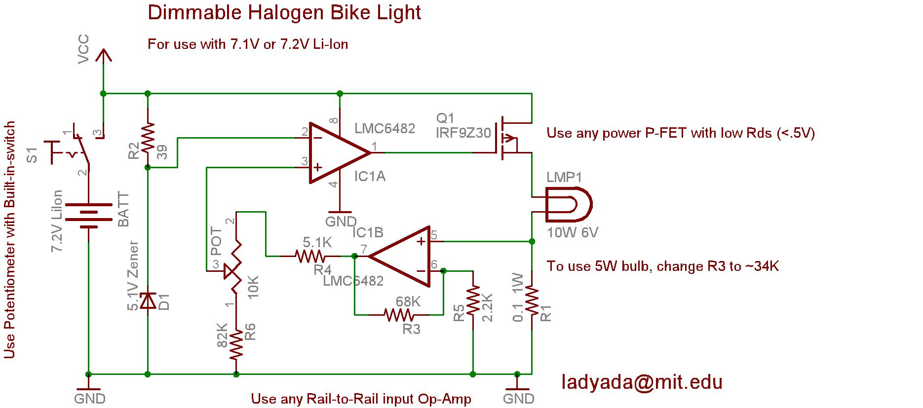 Bikelite Schematics Schematic Of Led Driver Circuit Download