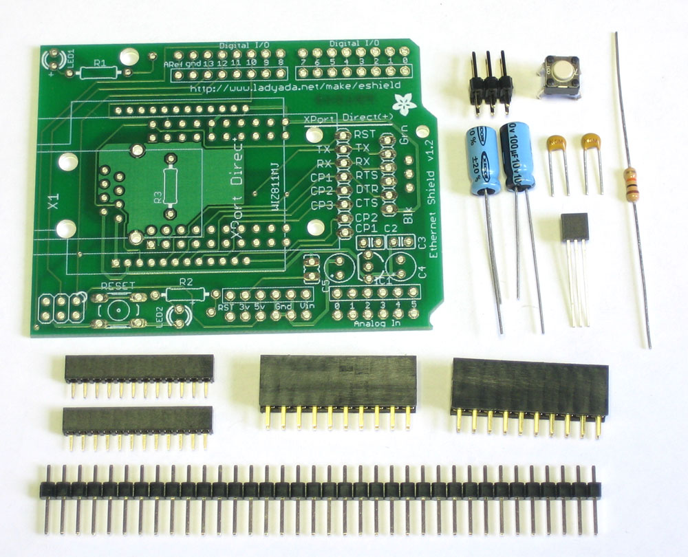 Ethernet Shield Solder Up The Kit Snap Together Arduino Circuits 4 First Off Check That You Have All Parts Theyre Listed On Bill Of Materials Page