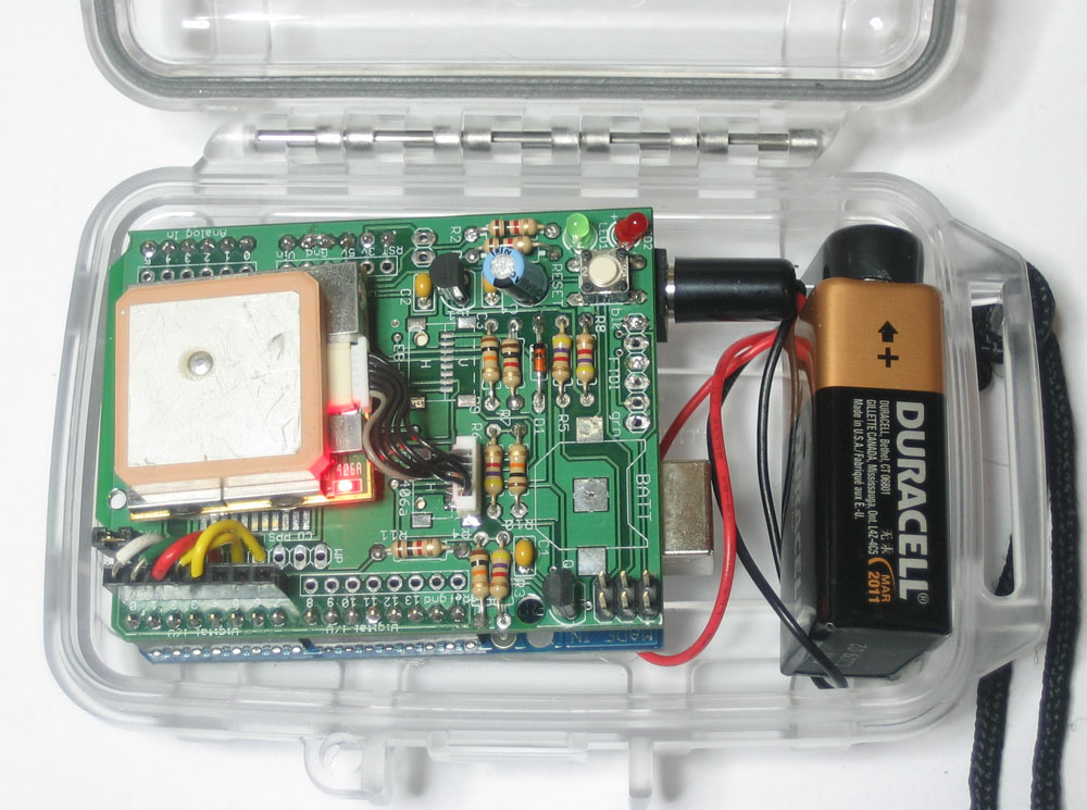 Gps datalogging shield for arduino