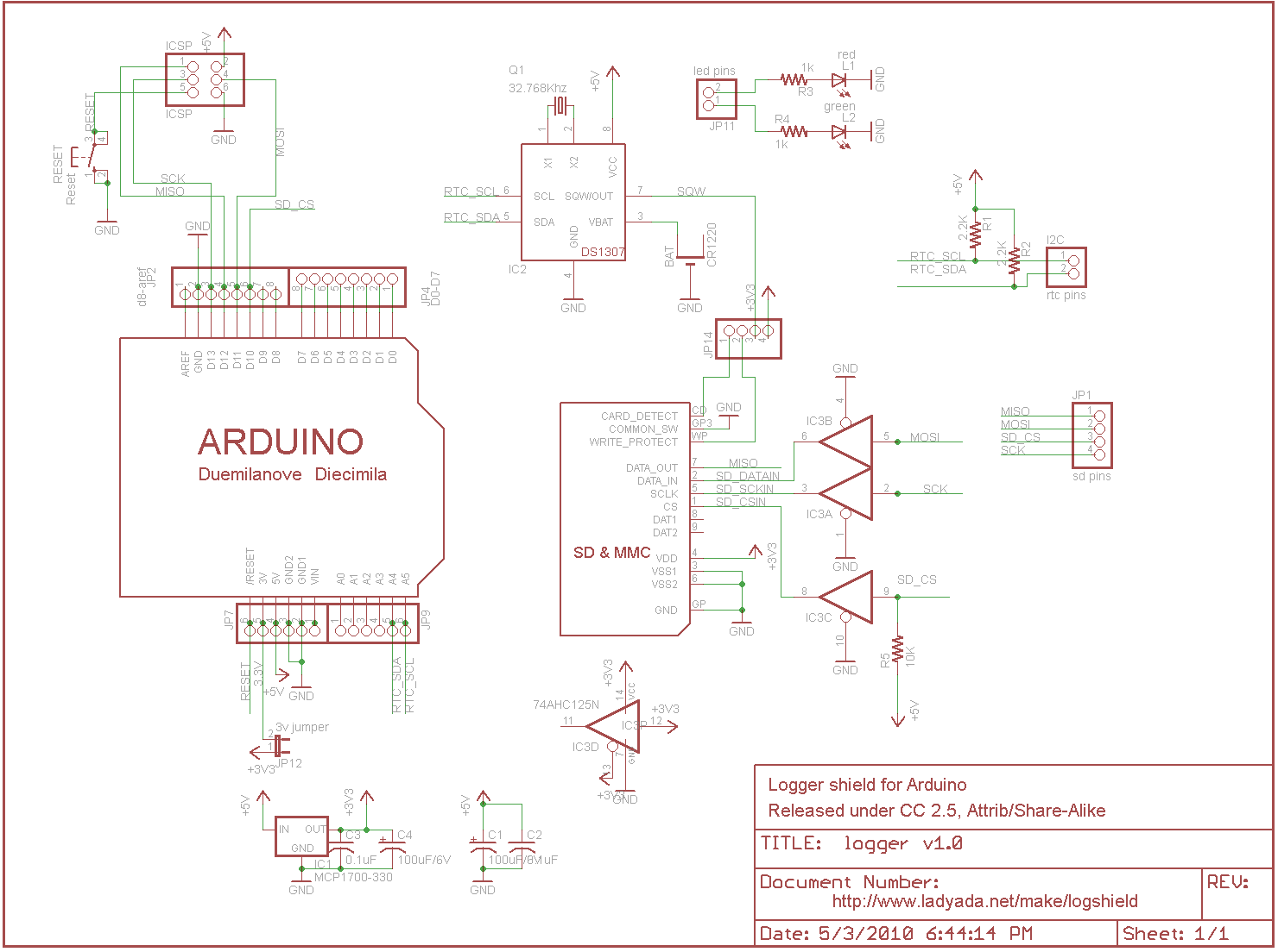 Logger Shield Datalogging For Arduino 6 Steps With Pictures Data Module Wiring Diagram Free Download Schematic An Image Of The V10