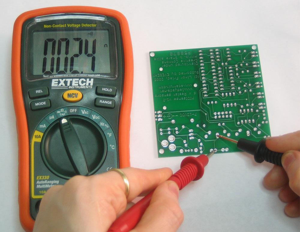 آموزش تست قطعات الکترونیکی با مولتی متر