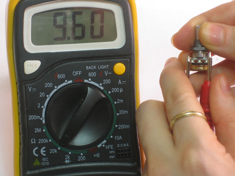 Multimeter Dial Symbols : How to test vc impedence old re audio subs us made car