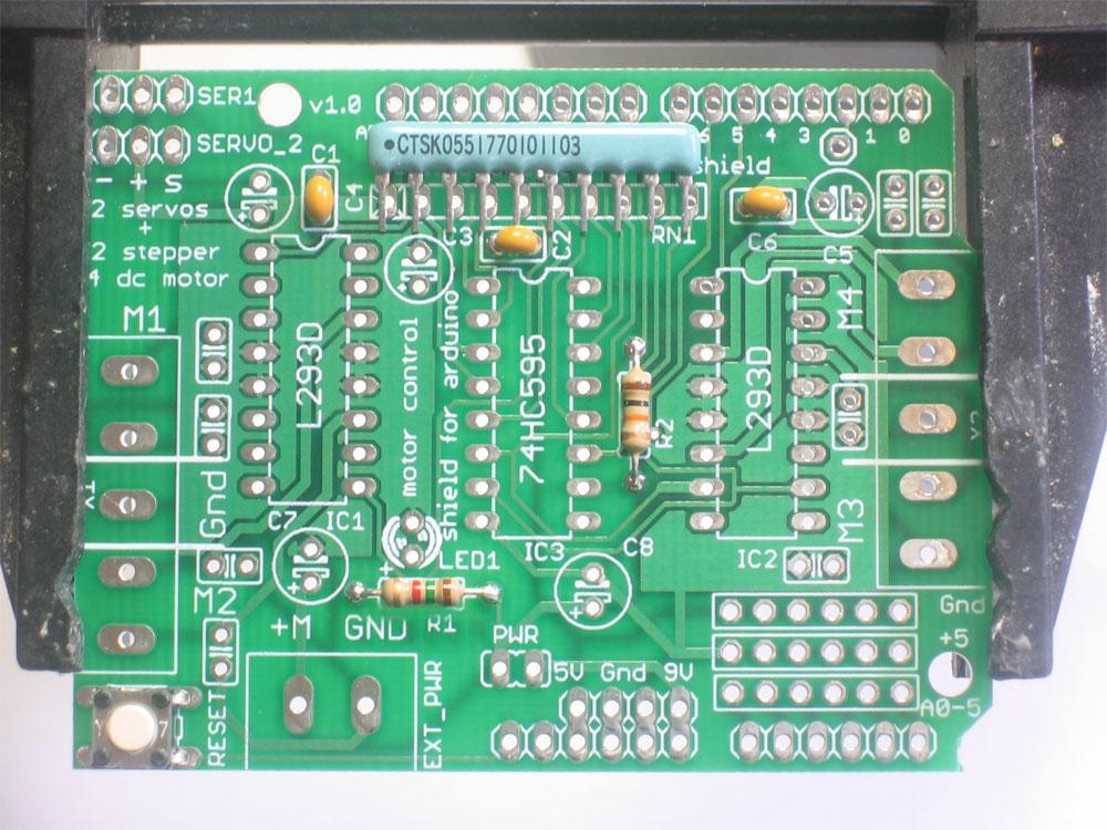 Arduino Motor Shield V3 Assembly