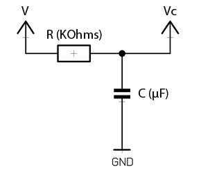 RC time constant / voltage calcultor