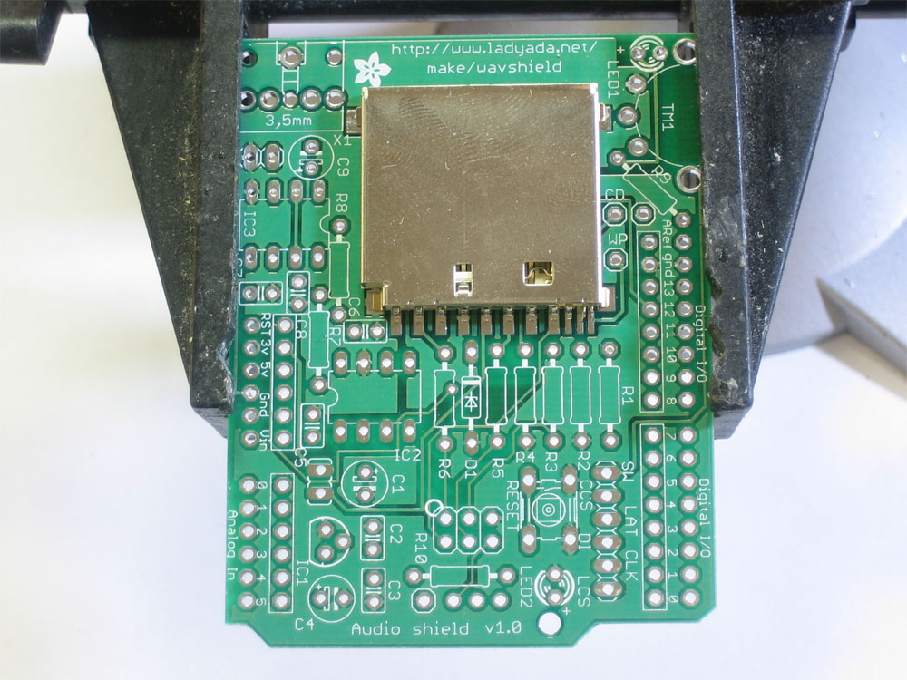 Audio Shield For Arduino Solder It Up