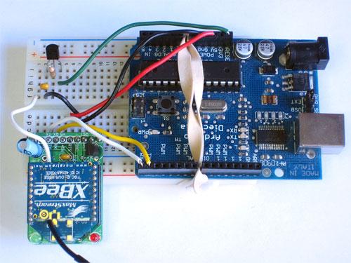O arduino utilizando tecnologia zigbee com circuito xbee