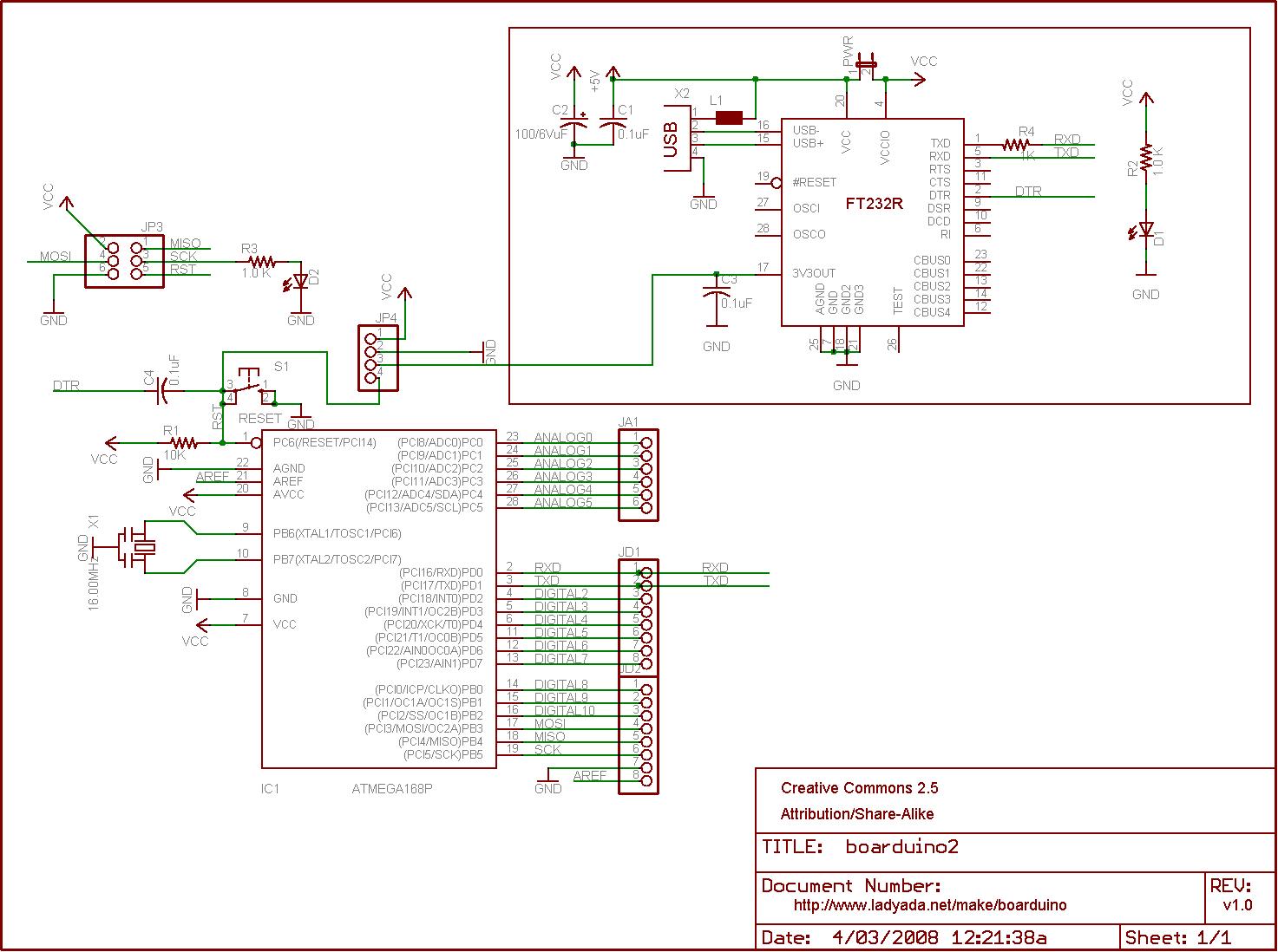 Usb Boarduino Arduino互換機 キット Atmega328搭載 V2 0 販売終了