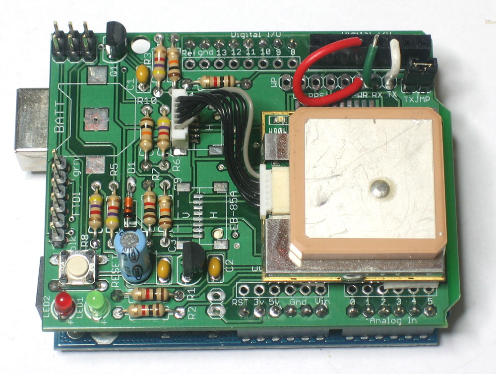 GPS datalogging shield for Arduino